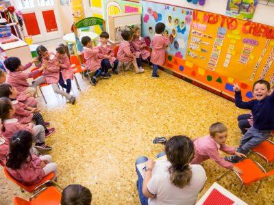 Attività di gruppo della scuola dell'infanzia