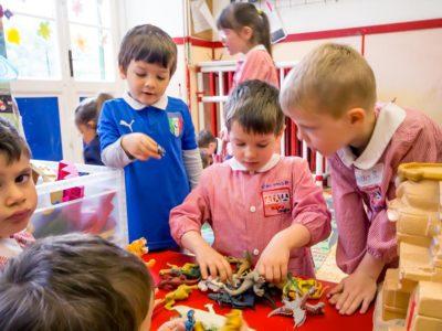 Momento delle costruzioni scuola dell'infanzia