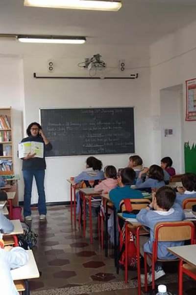 Lezione in corso della Scuola Maria Luigia di Chiavari